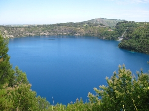 Blue Lake in summer